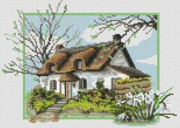 Cottage embroidery, cross stitch