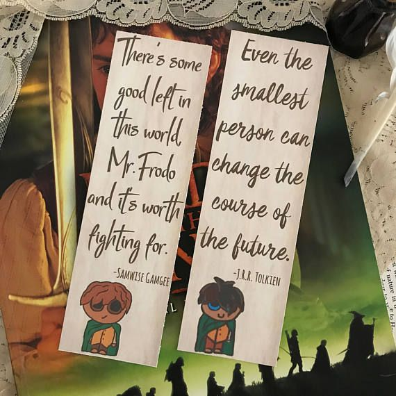 Lord of the Rings Bookmarks JRR Tolkien Bookmarks Middle
