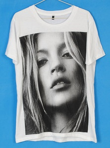 Why do I want this? Kate Moss Super Model Punk Rock Tee T-Shirt Women on ebay