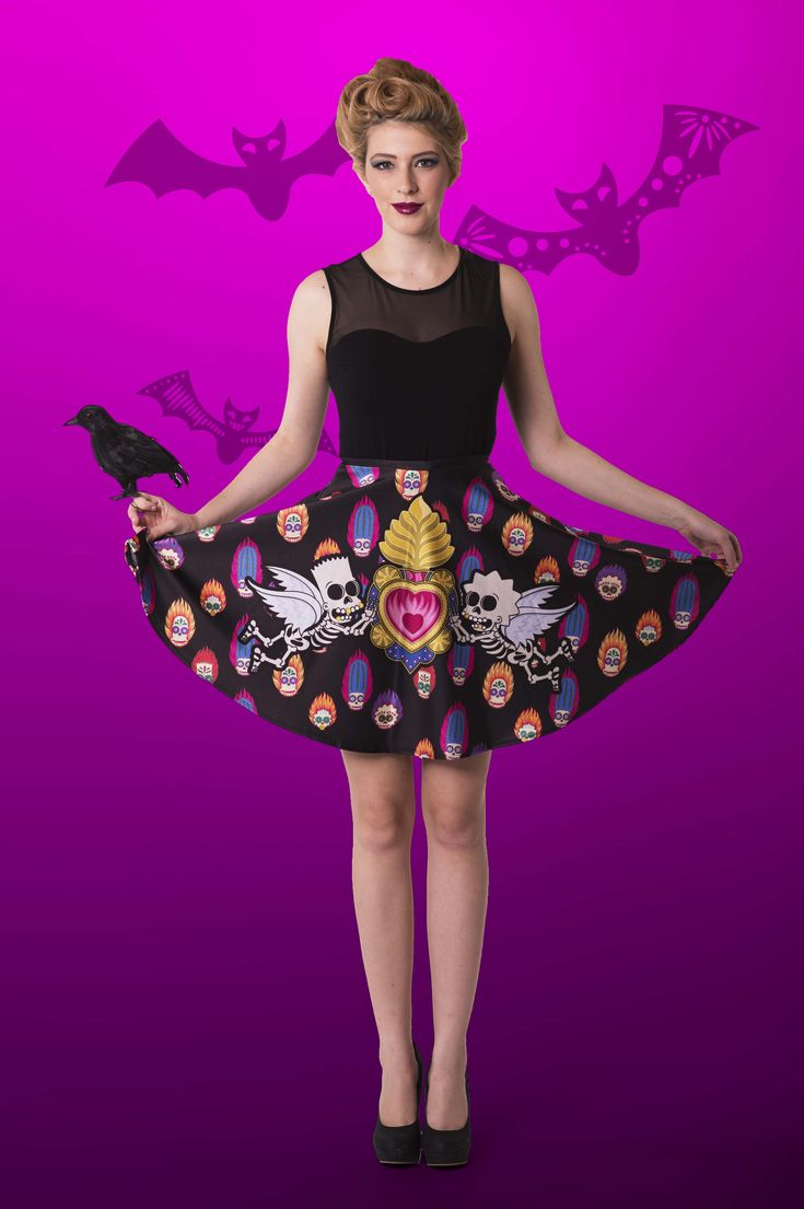Day of the Dead Pocket Skater Skirt $65.00 AUD LIMITED