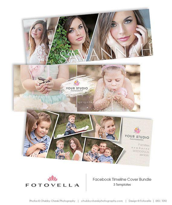 Facebook Timeline Cover Photoshop Templates for Photographers - 3Pak Bundle by FOTOVELLA