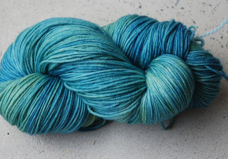 Hand dyed superwash merino yarn by RidgetopFibreStudio on Etsy