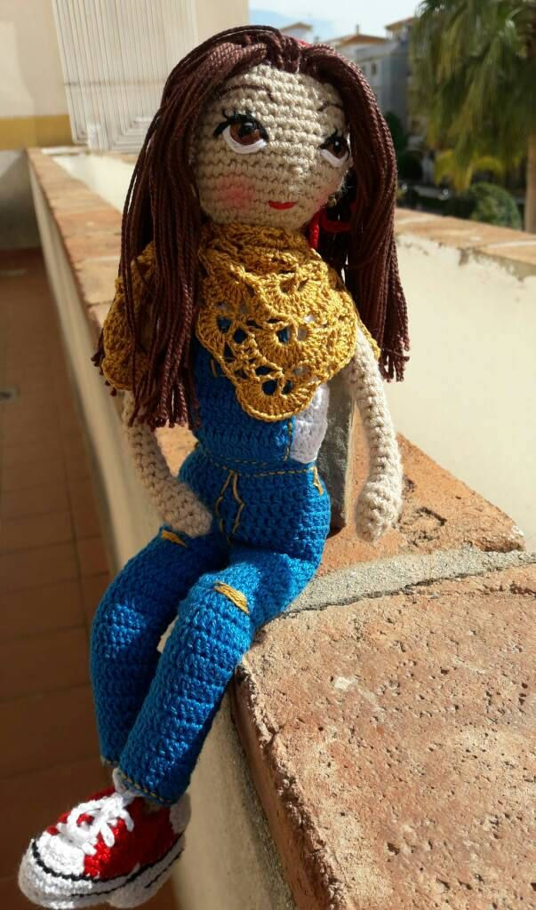 Amigurumi doll,doll amigurumi, doll crochet, handmade crochet,toy crochet ,with mercerized cotton thread embroidered eyes stuffed synthetic de naimacrochethandmade en Etsy