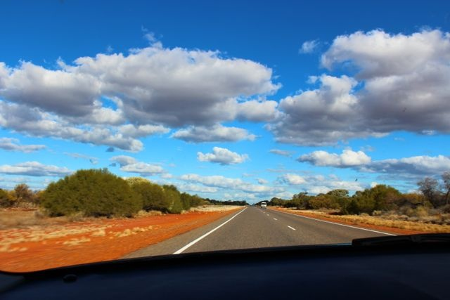 On the road to Kalbarri Western Australia