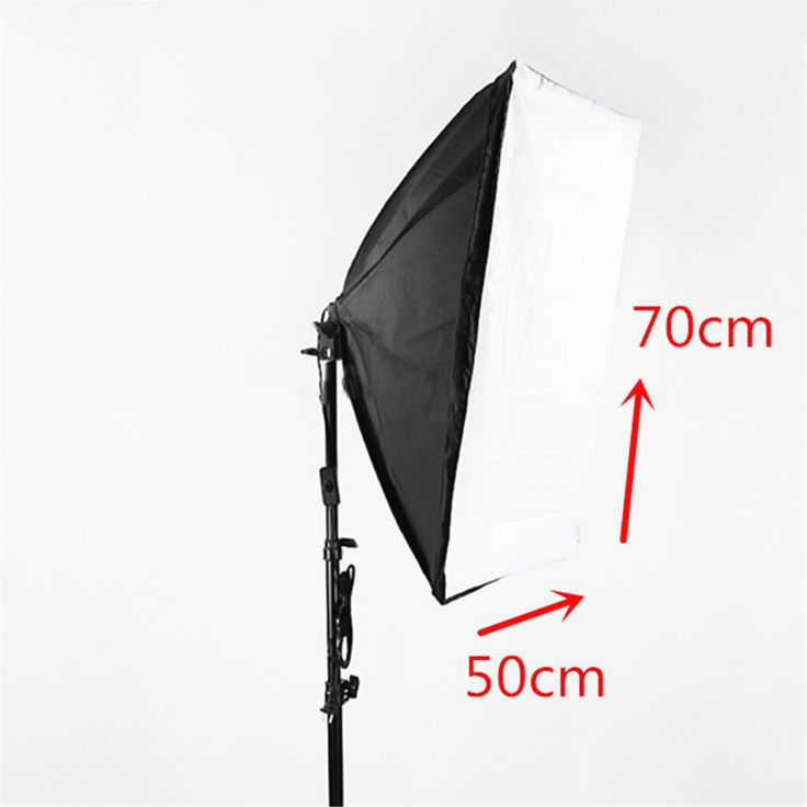 Photography Lighting Kit 2m Studio Light Stand Tripod + 50x70cm Softbox with E27 Socket Bulb Holder