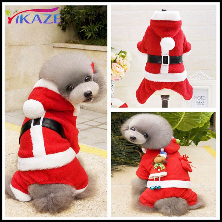 New Chihuahua Coat Clothing Cute Puppy Outfit Christmas Dog Clothes Santa Costume Pet Dog Christmas Clothes S-XXL #ChristmasOutfit