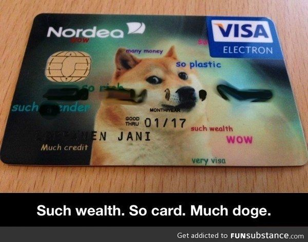 This. If I actually had a credit card company that let you add your own picture, I would do this.