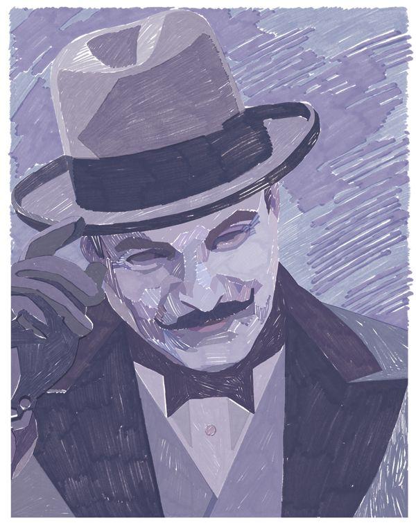 David Suchet as Hercule Poirot by Philip Dennis