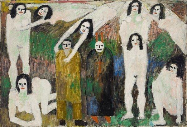 Jan Mueller. Walpurgisnacht - Faust II 1956 oil on canvas, 82 x 120