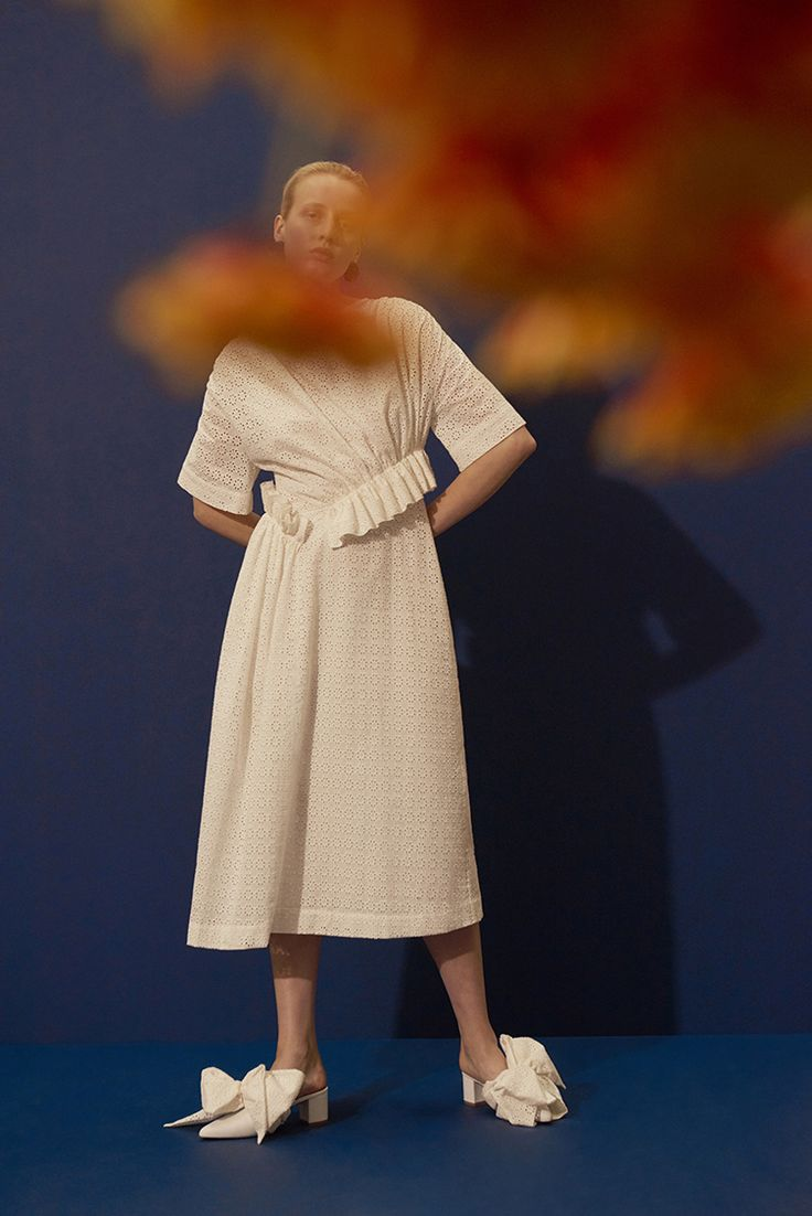 SS18 LOOKBOOK - Photography Toby Coulson, Styling Sally Anne Bolton, Model Anine Van Velzen, Creative Director Amy Powney #motherofpearl #pearlyqueen #ss18 #tobycoulson #amypowney #sallyannebolton