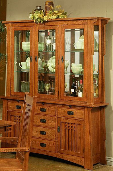 Browse The Bungalow Mission Oak Buffet Hutch Including Complete Top Rated Dining Room Furniture At Discount