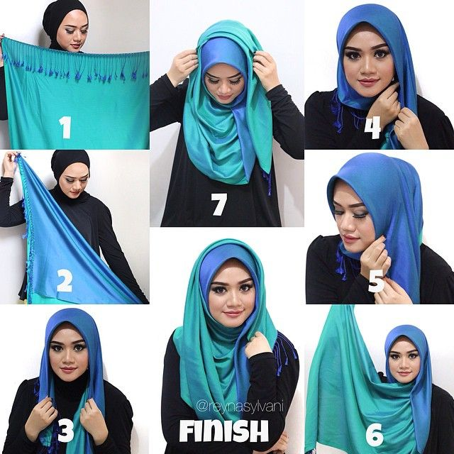 I love this hijab style, it looks so classy and would be great to wear for office or uni, I also love the color which is classy itself, I would for sure rock this style with a black…