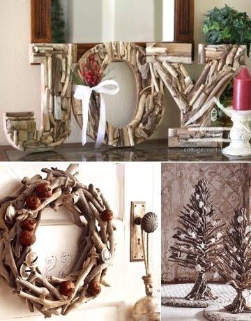 driftwood for christmas decor