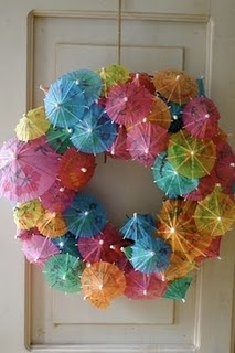 Very festive!  Cute summer wreath.
