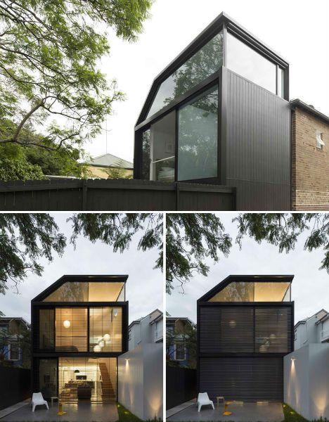 Black / glass facade.