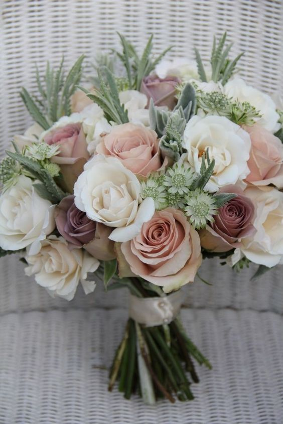 Must Have This Elegant And Soft Blush Dusty Rose And White
