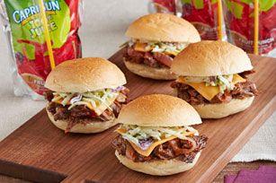 Slow-Cooker Short Rib Mini Sandwiches from Kraft