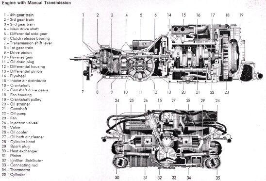 karmann ghia engine  u0026 transmission