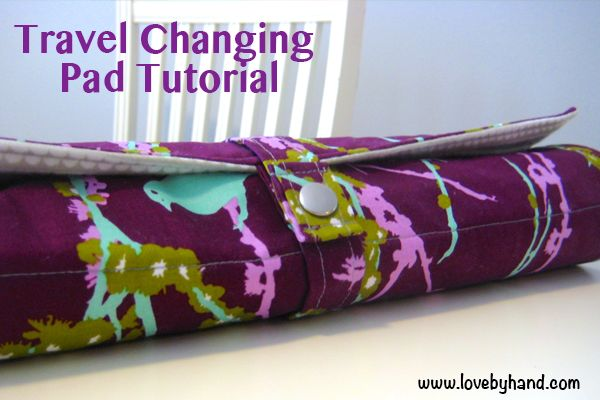 Roll-up Baby Changing Pad Tutorial. Great baby shower gift! http://www.craftaholicsanonymous.net/roll-up-baby-changing-pad-tutorial