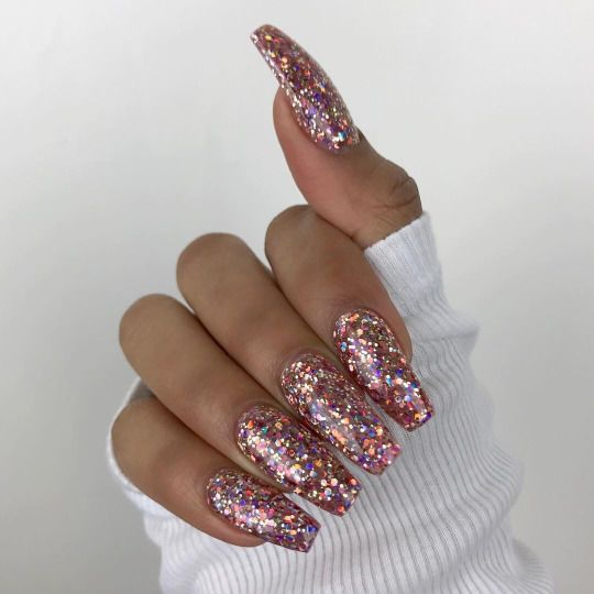 Black glitter nails tumblr