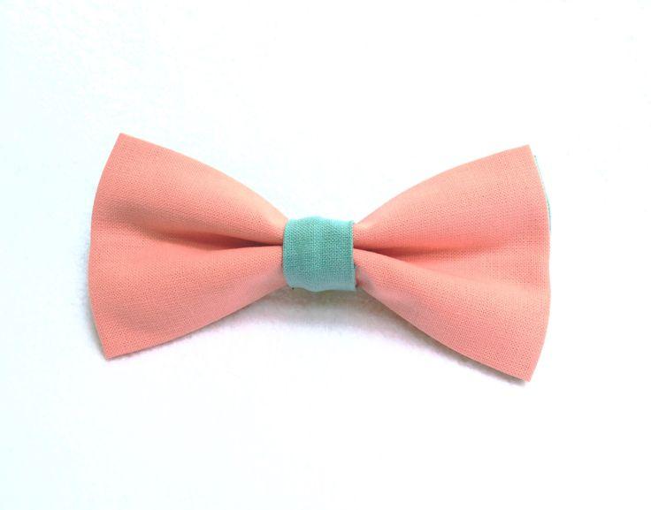 Noeuds papillon pour chien - 100% Coton - Couleurs : Rose et bleu turquoise. Mariage / Anniversaire / Fête / ... de la boutique LaCoussinerieFrance sur Etsy