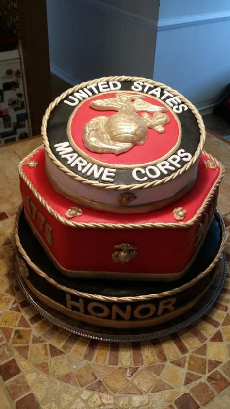 2014 Marine Corps Ball cake - Cake by Michaela Gilly
