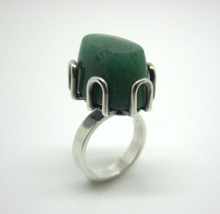 Modernist Organic Hans Hansen Sterling Silver Ring by torsgatan