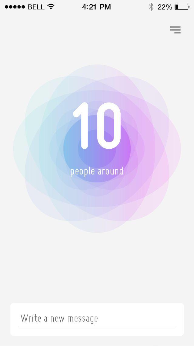 Nod app — anonymous proximity messenger