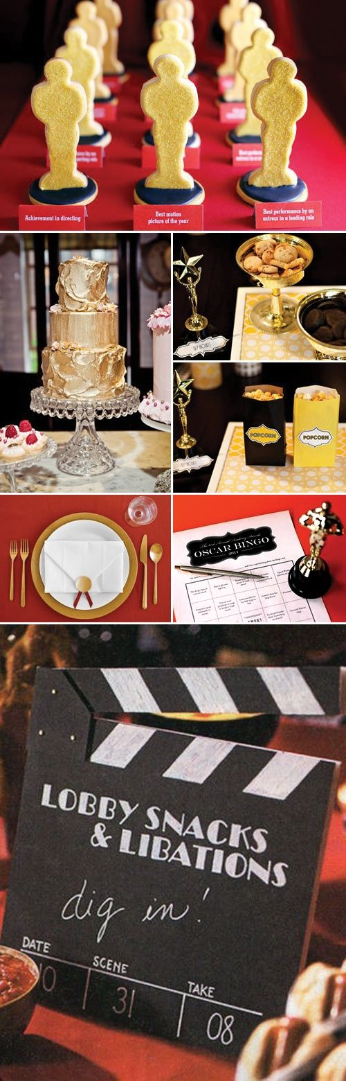 This isnt really vintage at all, its more of an oscars party. I just like the cake.