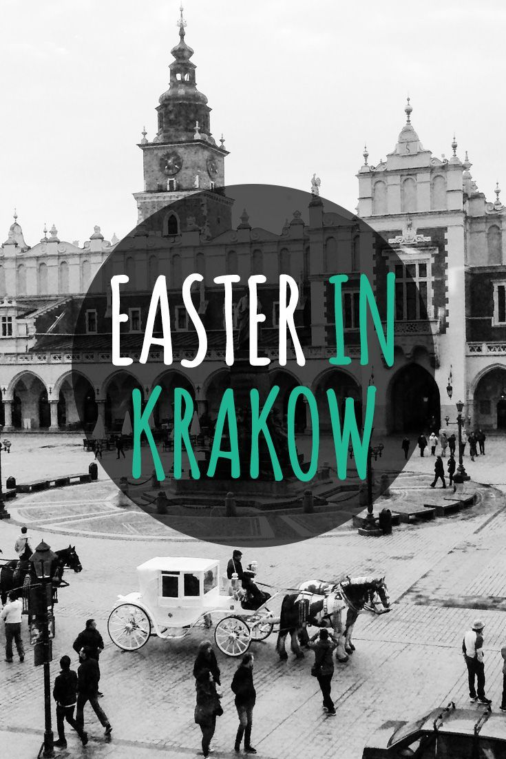 Where to go in Europe for Easter? Krakow should be on top of your list! One of the most beautiful cities in Poland, Krakow is booming with cute cafes, beautiful sights and a great Easter atmosphere, mainly thanks to the big Easter market on the main square, Rynek Glowny. See what you can do in Krakow during Easter when many places close down. #easter #krakow #poland