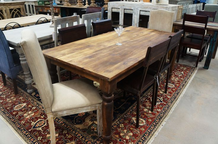8' Long with Turned Legs Dining/Office Table!! Hand