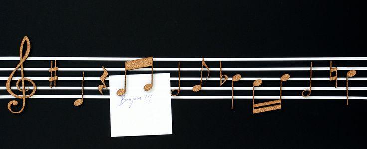 NOTAS MUSICALESQue mejor forma de recordar tus tareas que con música. Corte láser. Cut laser.