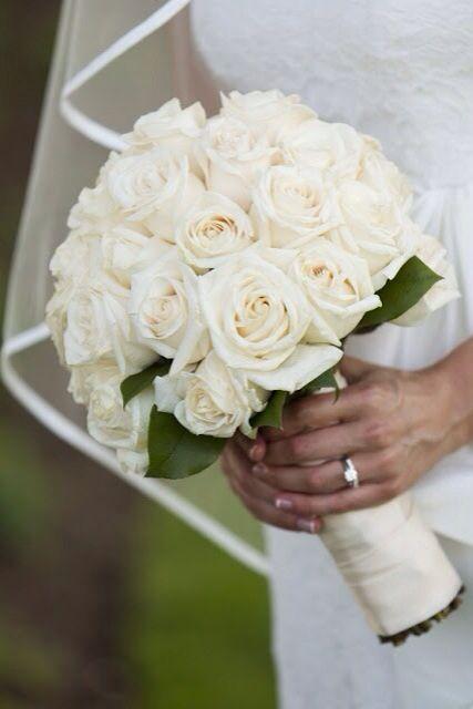 White roses ~MDweddings