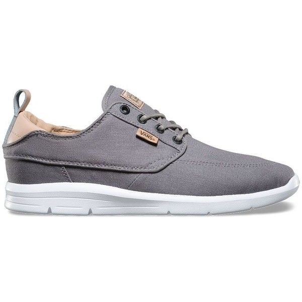 Vans C&L Brigata Lite ($75) via Polyvore featuring men's fashion, men's shoes, grey, mens canvas shoes, mens lightweight running shoes, mens canvas deck shoes, mens grey shoes and mens gray dress shoes