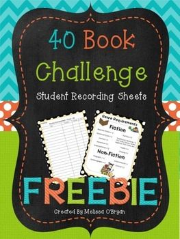 Are you incorporating Donalyn Miller's 40 Book Challenge into your Reading Workshop?  You can read more about the challenge in her amazing book - The Book Whisperer.  These student recording sheets are a sample from my Data Tracking Reading Workshop Organizer Binder set.
