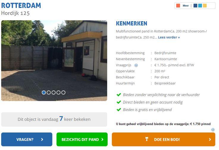 Multifunctioneel pand in Rotterdam te huur. Bepaal uw eigen huurprijs en kom direct in onderhandeling! Reageer online of bel 085-4013999  http://www.huurbieding.nl/huur/bedrijfsruimte/1-00931/rotterdam/hordijk-125.html  #bedrijfsruimte #showroom #tehuur #huren #rotterdam #mkb #ondernemer #gezocht #bedrijfspand #opslag #mkb #dienstverlening #rijnmond #huurbieding #bieden #huurprijs