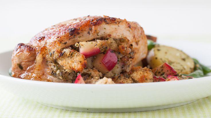 Sage & Apple-stuffed Pork Chops