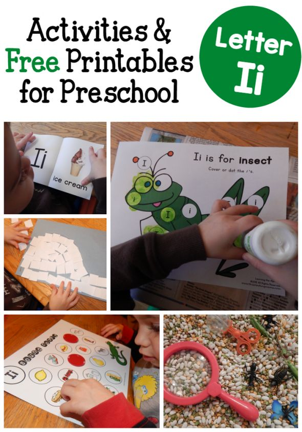 Looking for letter I crafts?  You'll find them in this fun collection of letter I activities for preschoolers.