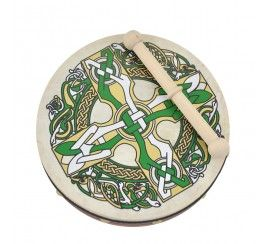 "8"" Bodhrán with Celtic Cross Design"