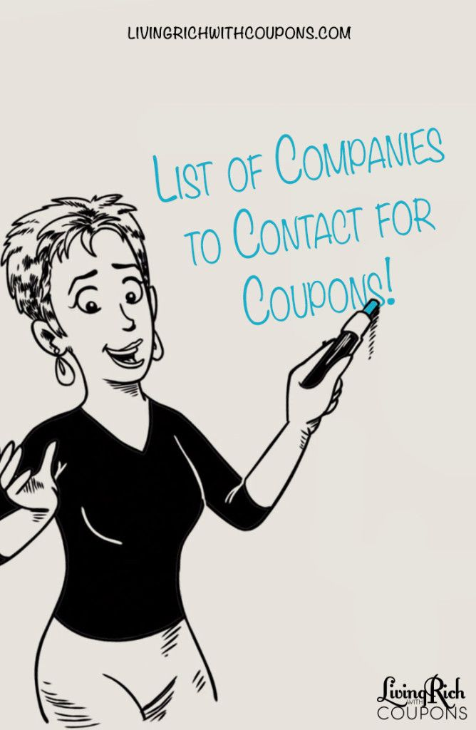 Master List of Companies to Contact for Free Coupons