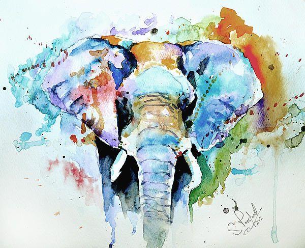 Splash Of Colour by Steven Ponsford - Splash Of Colour Painting - Splash Of Colour Fine Art Prints and Posters for Sale
