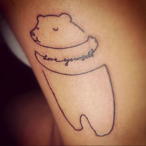 "The ""love yourself"" bear."