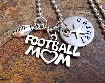 Personalized Football Necklace College by 3sisterscollections
