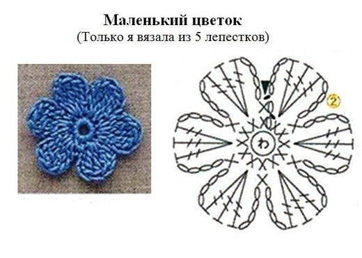 цветок с 6 лепестками крючком схема: 20 тыс изображений найдено в Яндекс.Картинках