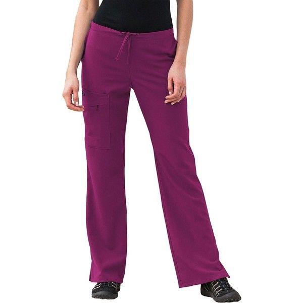 Plus Size Jockey Scrubs Cargo Pants (2.390 RUB) ❤ liked on Polyvore featuring plus size women's fashion, plus size clothing, plus size pants, pink, plus size, women's plus size pants, plus size print pants, print pants, purple cargo pants and womens plus pants