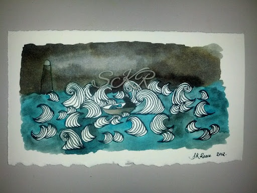 Ink Painting - seascape