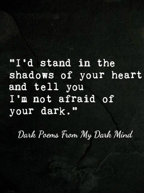 Sometimes when we have to be apart life is rough. This could be a wonderfully supportive quote when your  partner is facing challenges, couldn't it? -- You can find more Dark Poems From A Dark Mind here.