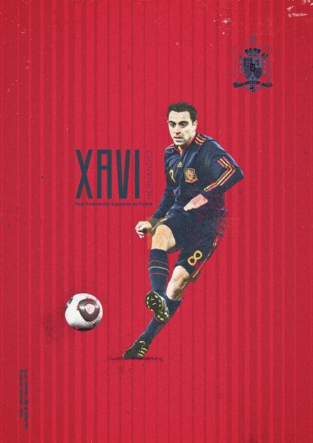 Xavi, España / Spain - Mundial Brasil 2014 - Brazil World Cup 2014. KEY PLAYERS by Giuseppe Vecchio Barbieri