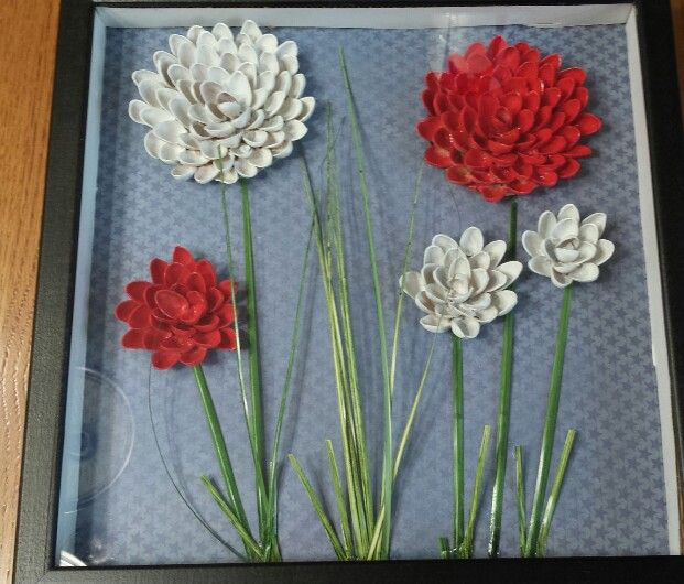 19 best pista shell art images on pinterest craft pistachio red and white pistachio shell flowers solutioingenieria Image collections
