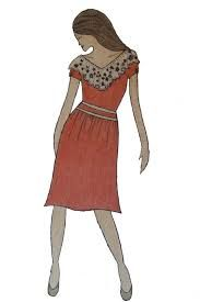 Image result for unique dress designs two colors